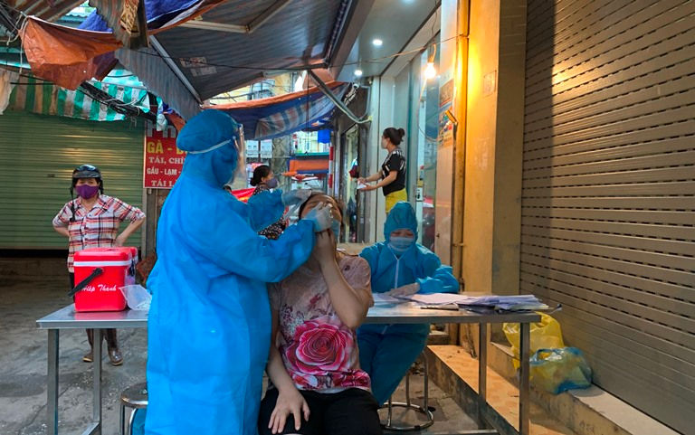 Ngày 21/7, Hà  Nội ghi nhận 46 ca dương tính với SARS-CoV-2
