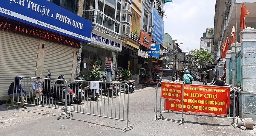 Ghi nhận 12 ca Covid-19 tại ổ dịch Trại Găng, phường Thanh Nhàn