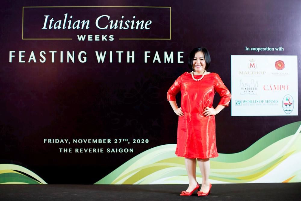 Bà Trang Lê - Chủ tịch Tuần lễ thời trang Quốc tế Việt Nam được bổ nhiệm Đại sứ ẩm thực Italia tại Việt Nam