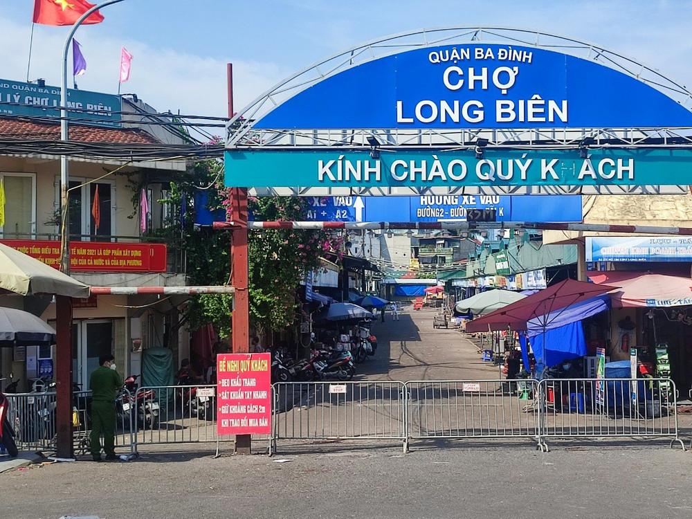 Hà Nội: Phong toả, cách ly y tế đối với chợ Long Biên