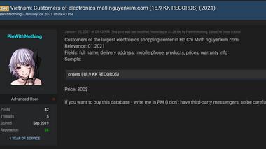 Thông tin gần 19.000 khách hàng của Nguyễn Kim bị rao bán