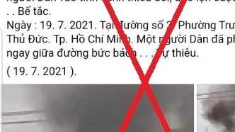 Không có chuyện 'một người dân bức xúc tự thiêu' tại TP HCM