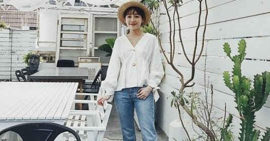 Mũ cói chống nắng được các quý cô Châu Á sử dụng làm phụ kiện sống ảo trong street style tuần này