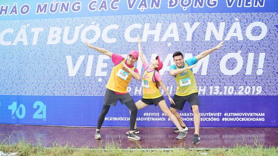 Minh Hằng, Mlee, Quốc Anh, Lê Xuân Tiền và hàng loạt celeb hội ngộ trên đường đua Marathon