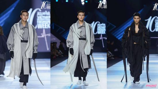 Mạc Trung Kiên, Tôn Thọ Tuấn Kiệt gây ấn tượng với phong cách thời trang phi giới tính trong bộ sưu tập của nhà thiết kế Malaysia - Kit Woo