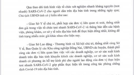"""Đồng Nai: Loạn thu phí xét nghiệm SARS-CoV-2, người dân """"kêu trời"""""""